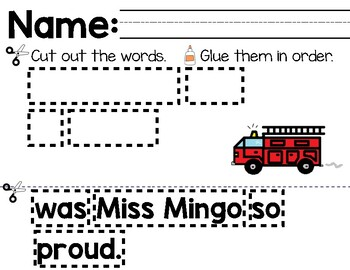 Miss Mingo and the Fire Drill Mentor Sentence