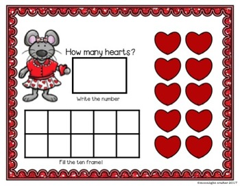 Miss Mouse's Valentine Counting Mats