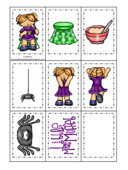 Miss Muffet themed Memory Matching preschool curriculum ga