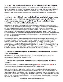 Kristine Nannini's Data Binders and Assessments FAQ