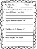 Miss Nelson Has a Field Day Printables