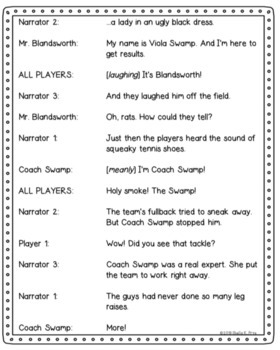 Readers' Theater Script & MORE! - Miss Nelson Has a Field Day - Fluency - CCSS