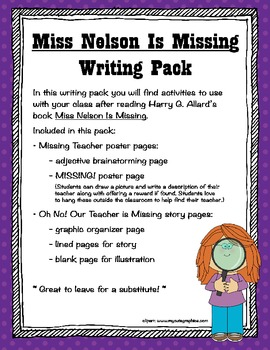 Miss Nelson Is Missing Writing Pack