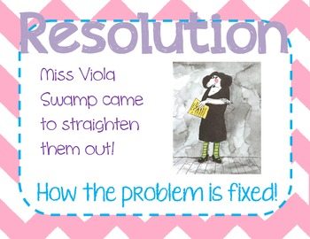 Miss Nelson Story Elements Posters FREE