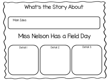 Miss Nelson Has a Field Day ~ 44 pgs. Common Core Activities