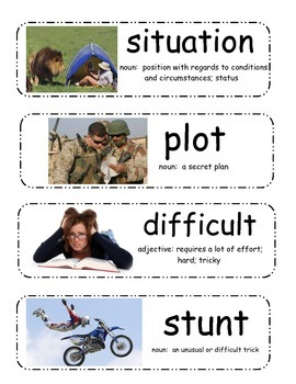 Miss Nelson is Back Vocabulary Cards