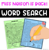 Miss Nelson is Back Word Search