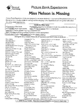 Miss Nelson is Missing Literature Guide