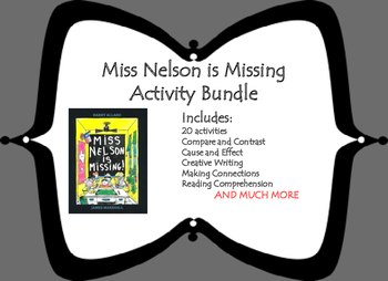 Miss Nelson is Missing Activity Bundle