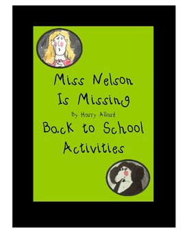 Miss Nelson is Missing Back to School Activities
