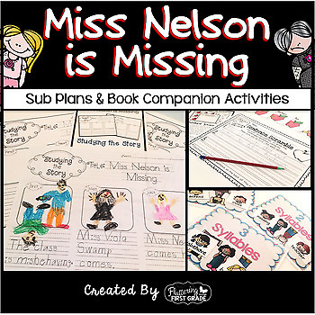 Sub Tub Activities ~ Miss Nelson is Missing