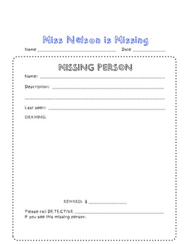 Miss Nelson is Missing CCSS Common Core Fun SUBSTITUTE plans FUN!