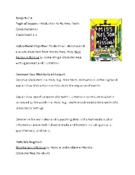 Miss Nelson is Missing! Character Analysis Lesson Plan