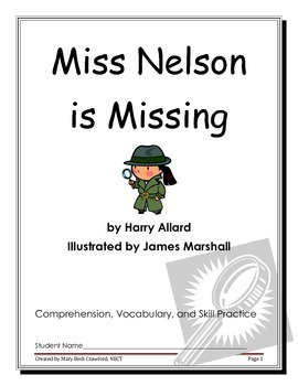 Miss Nelson is Missing {Comprehension and Written Response}