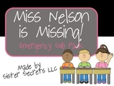 Miss Nelson is Missing Emergency Sub Plans