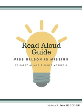 """""""Miss Nelson is Missing""""  Guided Reading Lesson Plan and A"""