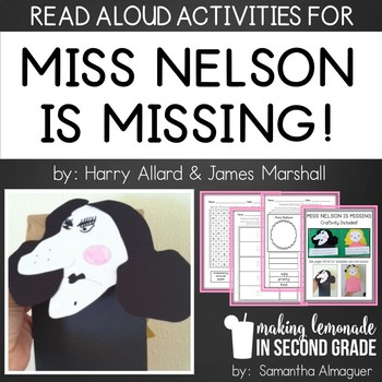 Miss Nelson is Missing:  Literature Unit & Back to School Activity Pack