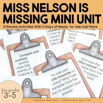 Miss Nelson is Missing Activities Unit | Read Aloud Book Center Activities