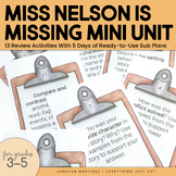 Miss Nelson is Missing! Mini Activities Literature Unit