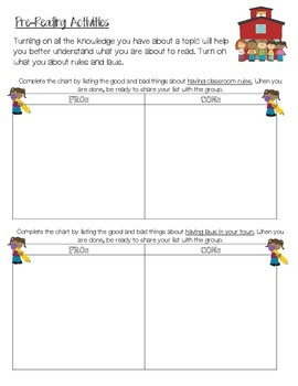 Miss Nelson is Missing  Making Predictions, Cause & Effect, Word Work
