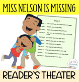 Readers' Theater Script & MORE! - Miss Nelson is Missing -