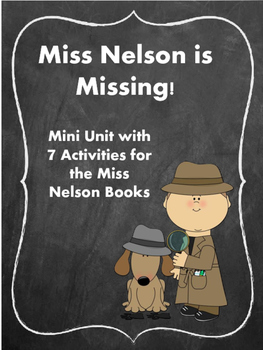 Miss Nelson is Missing! Back to School, First day of School Reading Unit
