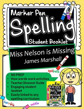 Miss Nelson is Missing Spelling Booklet UK/Aus Version