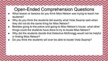 Miss Nelson is Missing Unit