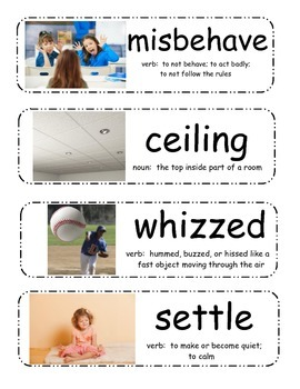 Miss Nelson is Missing! Vocabulary Cards