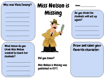 Miss Nelson is Missing - Writing Activity