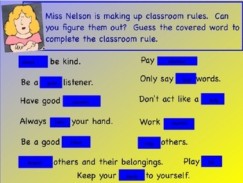 Miss Nelson is Missing powerpoint