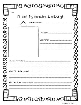 Miss Nelson is Missing Activity Pack
