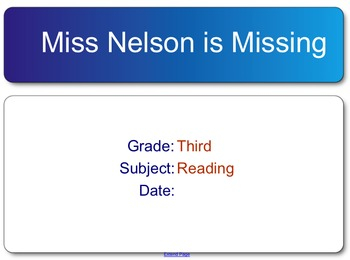 Miss Nelson is Missing test