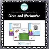 Area and Perimeter Customizable Escape Room / Breakout Game