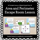 Area and Perimeter Customizable Escape Room / Breakout Game