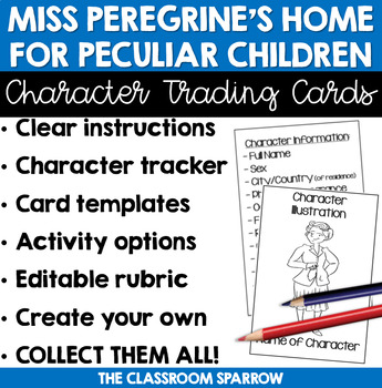 Miss Peregrine's Home for Peculiar Children - Character Trading Card Activity