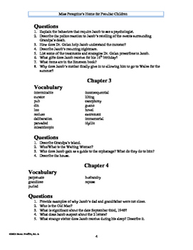 Miss Peregrine's Home for Peculiar Children Study Guide