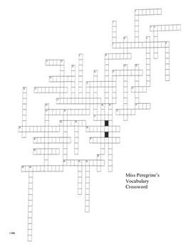 Miss Peregrine's Vocabulary Crossword