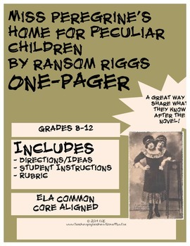 Miss Peregrine's Home for Peculiar Children One-Pager
