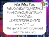 Miss Priss Font {True Type Font for personal and commercial use}