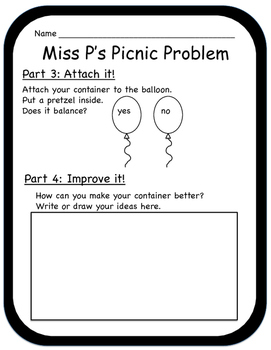 Miss P's Picnic Problem (Primary) STEM with a Twist