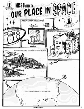 Miss Q's Guide to Our Place in Space--Space Systems Comic Book Coloring Pages