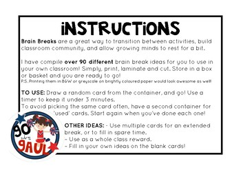 90+ Brain Breaks for ALL Classrooms!
