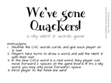 Miss Rachael's We've Gone Quackers! Silent 'E' Game {Magic E, Bossy E}
