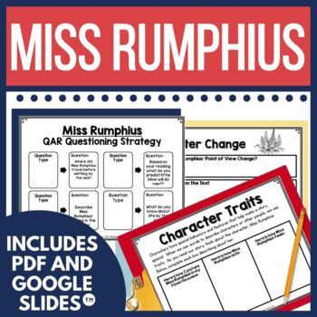 Miss Rumphius is a sweet book about making a difference in the world. It's perfect for this time of year to highlight the importance of Earth Day, and this unit focuses on this theme with a class book for extension.