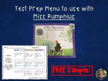 Miss Rumphius Choice Board