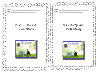 Miss Rumphius Interactive Notebook Book Study