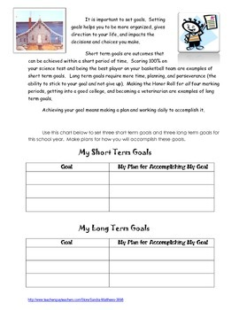Miss Rumphius - Life Skills through Literature: Goal Setting