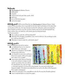 Miss Rumphius' Lupines: Integrated Art & Literacy Lesson Plan