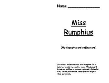 Miss Rumphius Reflection